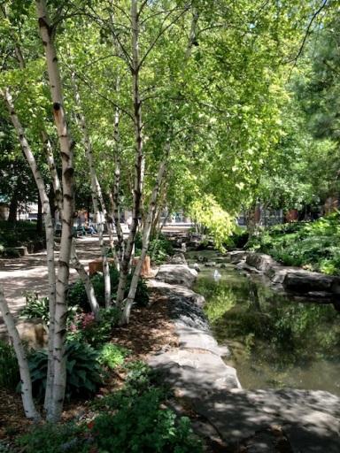 Mears Park is in St. Paul Prep's backyard.