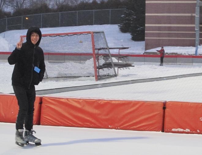 Skating at Oval